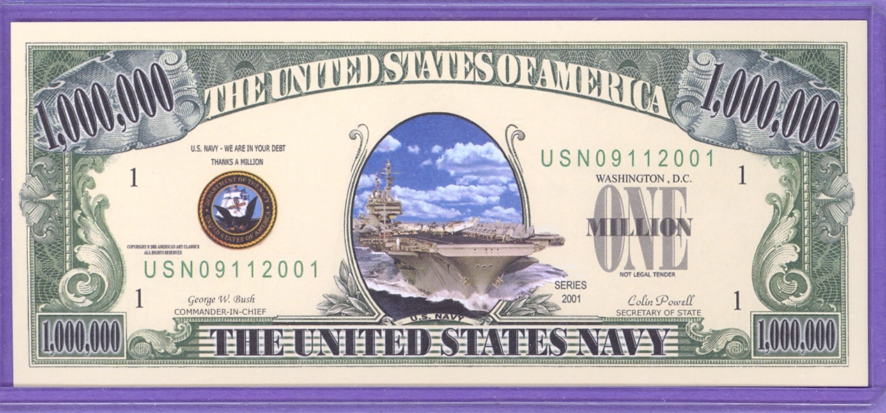 US Navy 09/11/ 2001 Fantasy Note