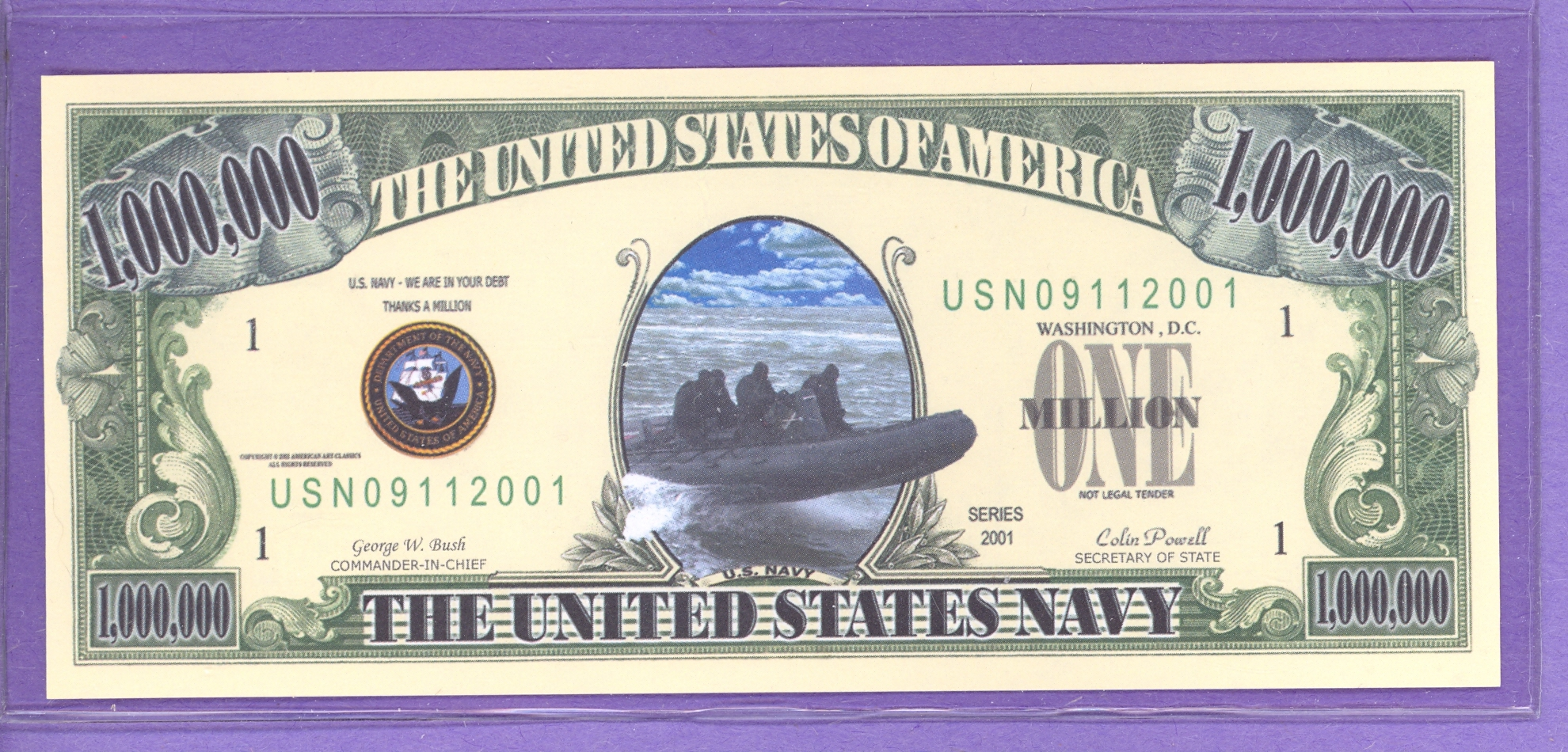 US Air Force 09/11/ 2001 Fantasy Note