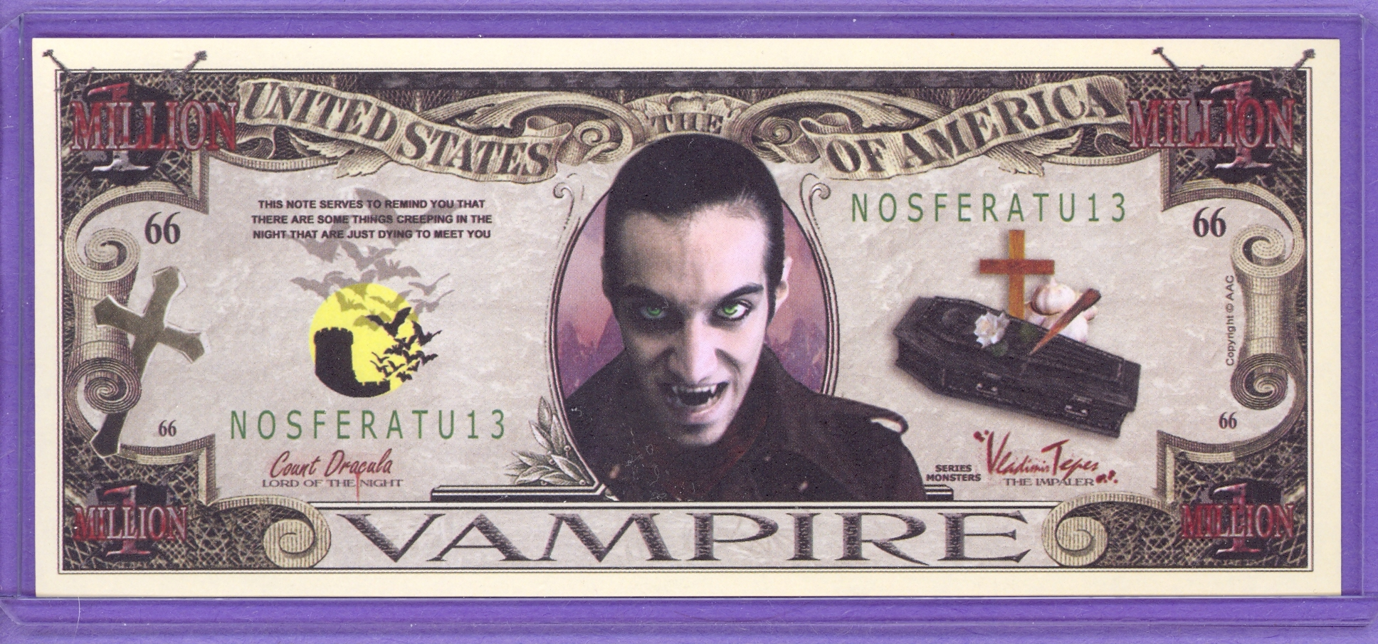 Vampire $1,000,000 Novelty Note
