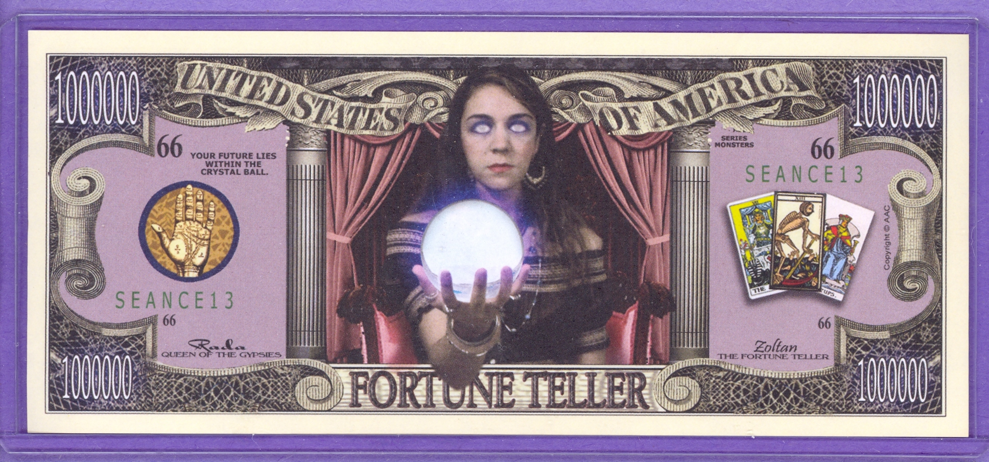 Fortune Teller $1,000,000 Novelty Note