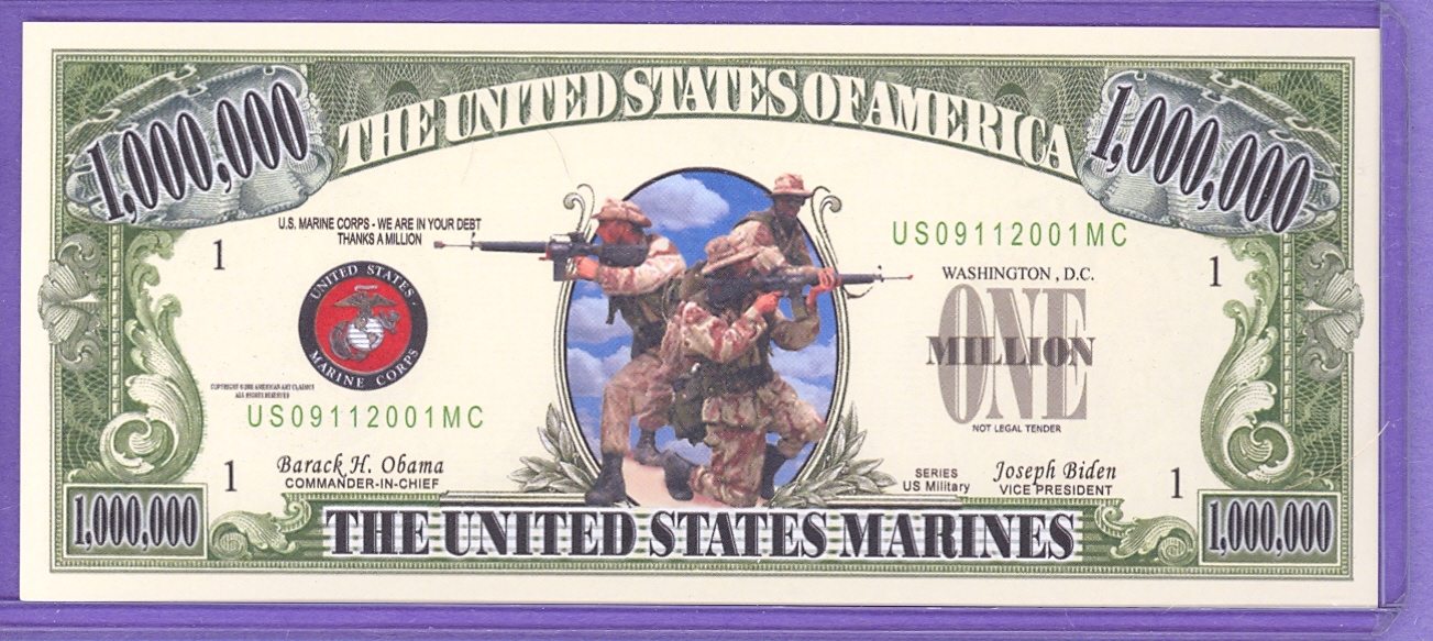 US Marines 09/11/ 2001 Fantasy Note