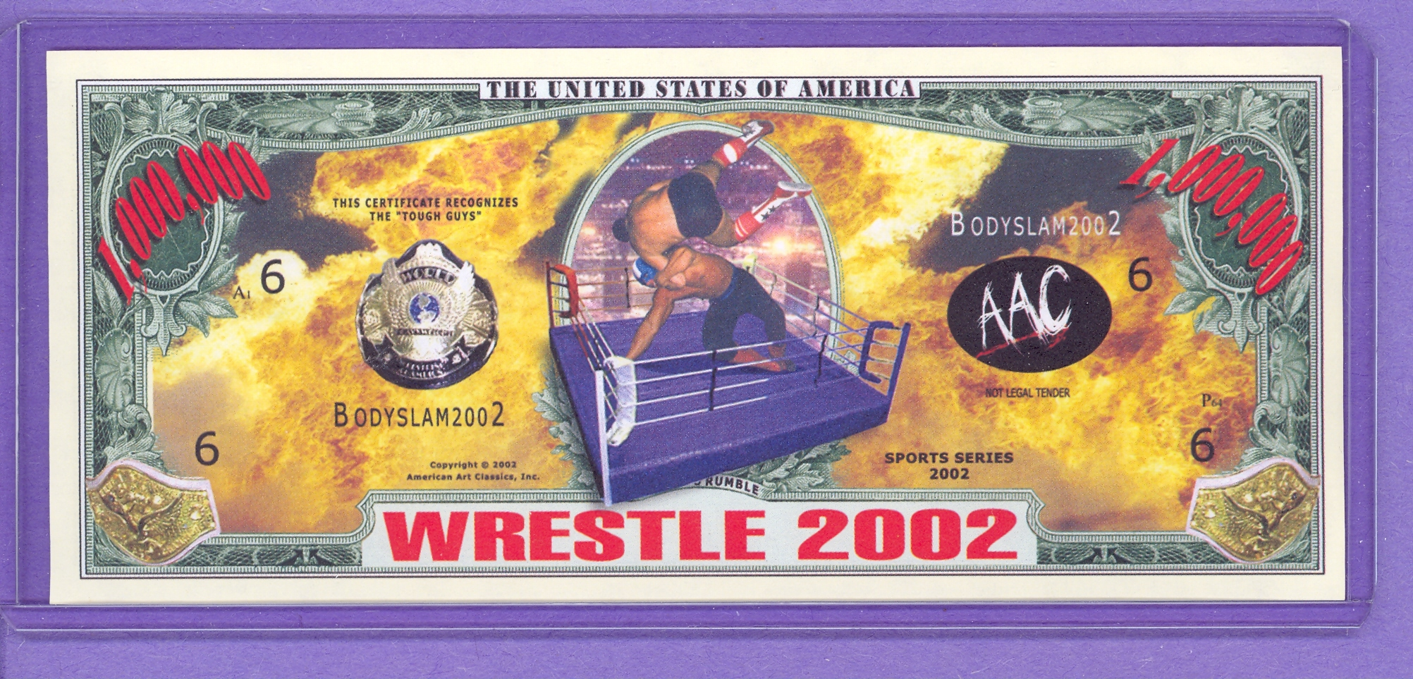 2002 Wrestling $1,000.000 Novelty Note
