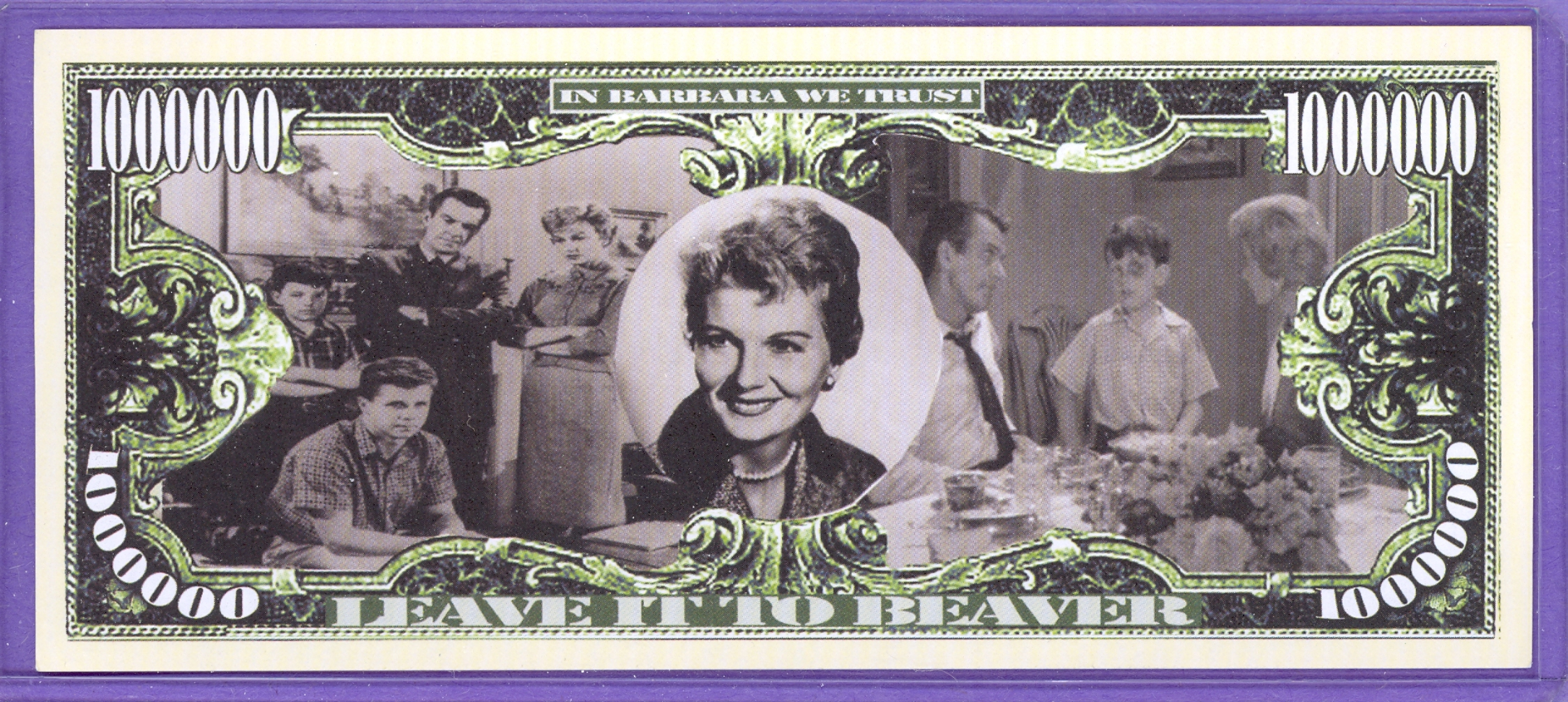 In Memory of Barbara Billingsley $1,000,000 Note