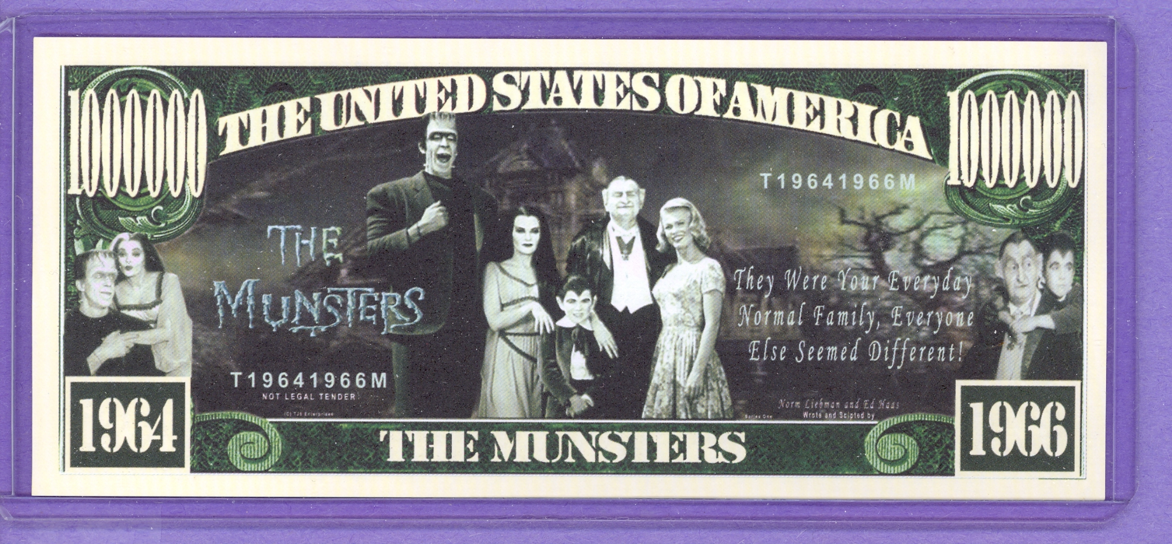 The Munsters $1,000,000 Novelty Note