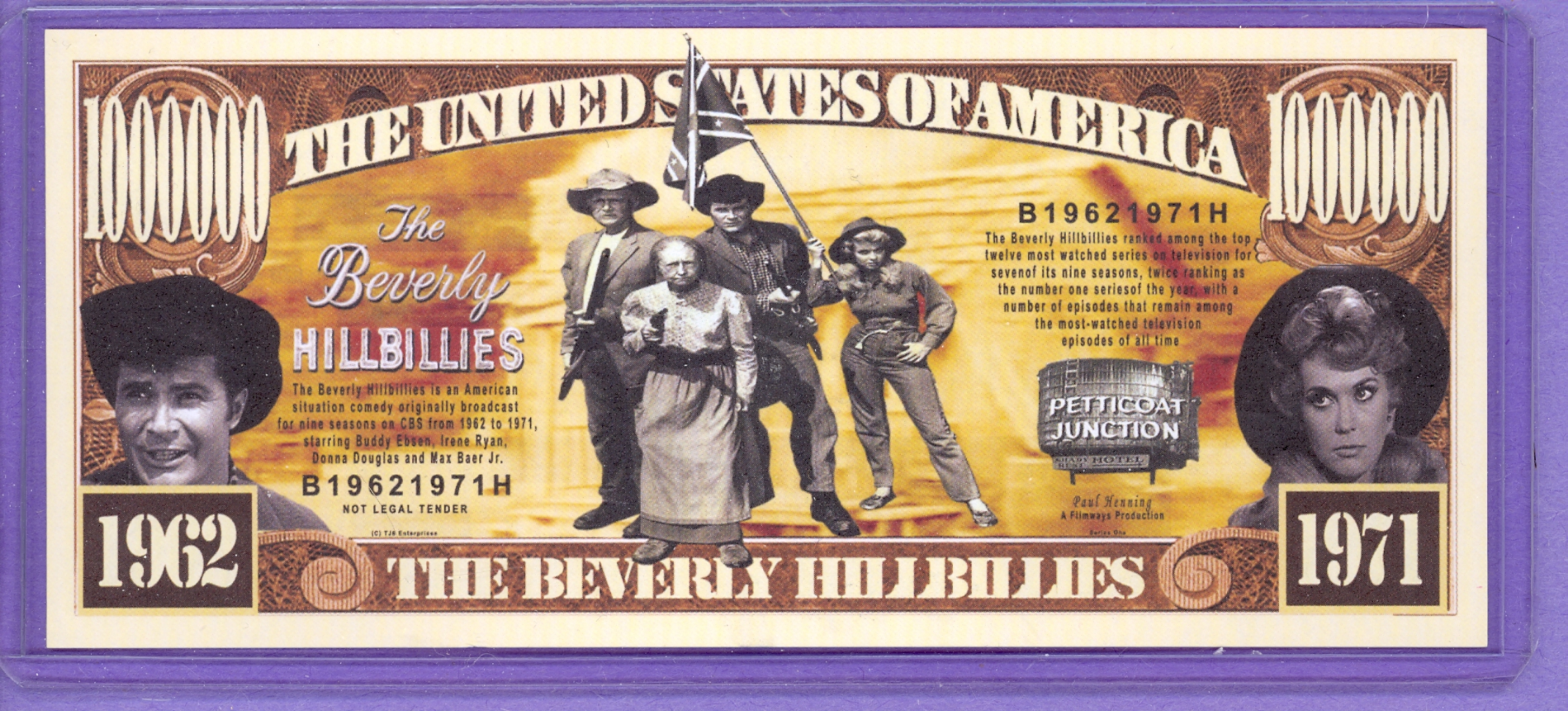 Beverly Hillbillies $1,000,000 Novelty Note