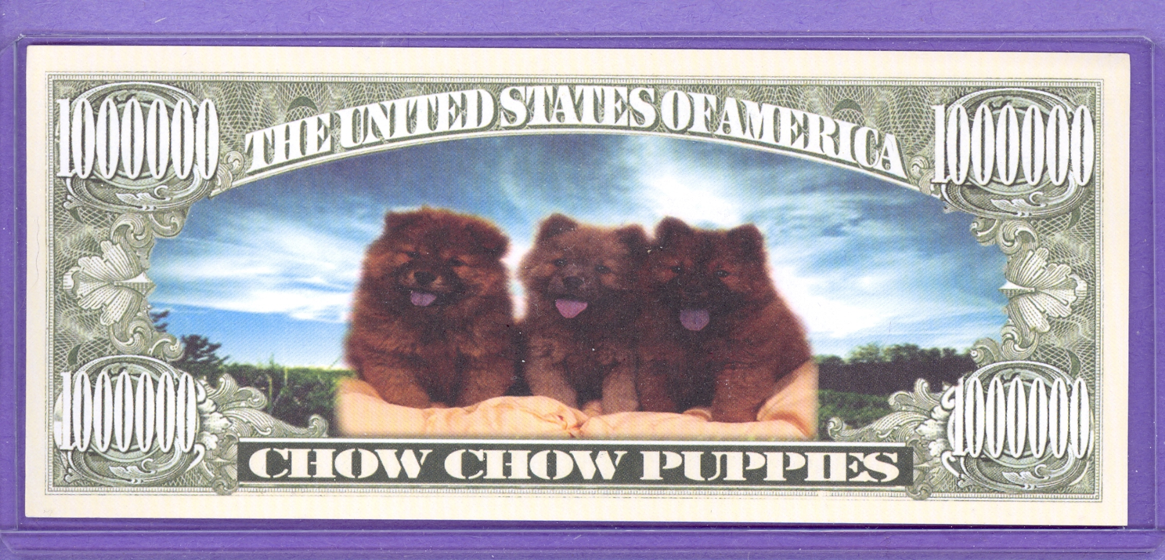 Chow Chow Puppies $1,000,000 Fantasy Note