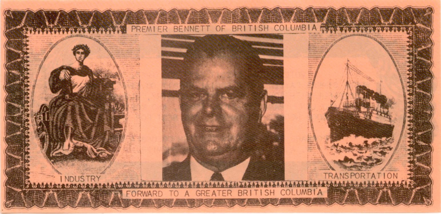 Premier Bennett of British Columbia Note