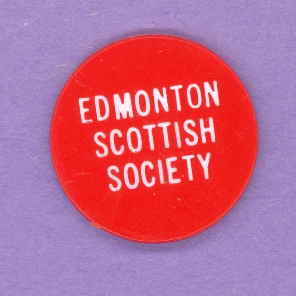 Edmonton Scottish Society Plastic Drink Token Red