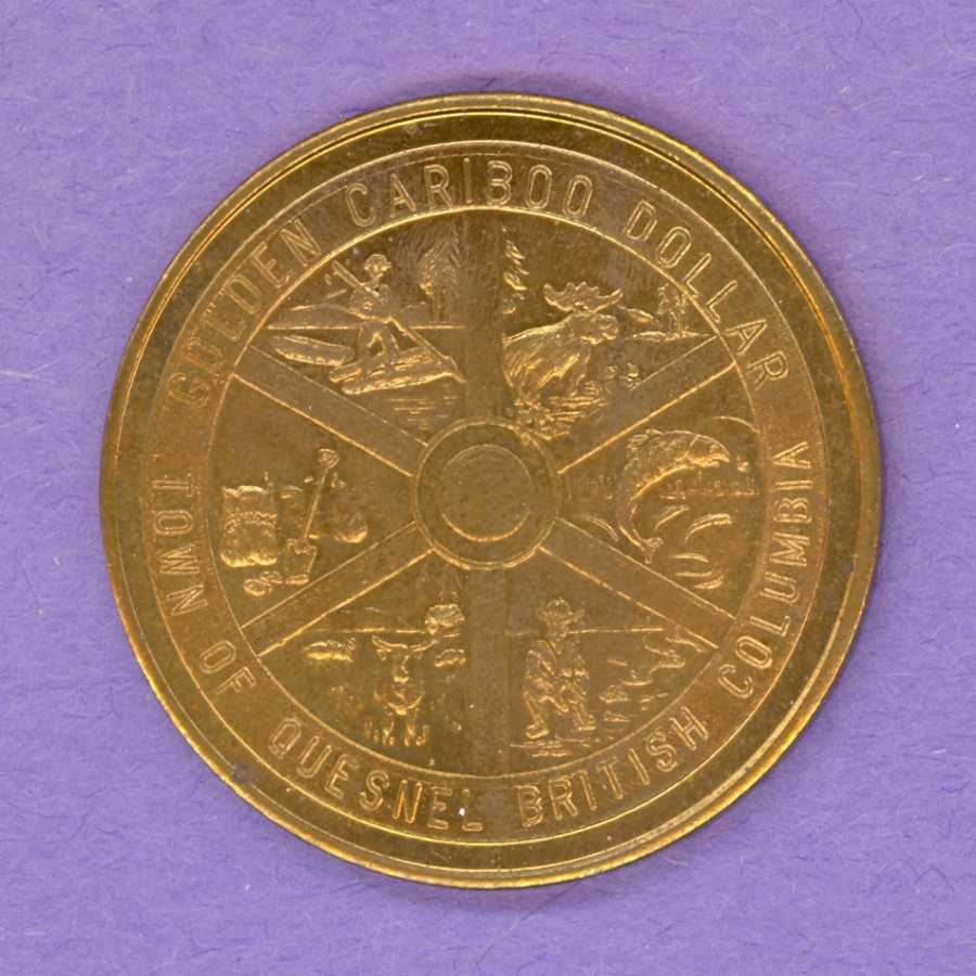 1969 (undated) Quesnel BC Trade Token or Dollar - Wheel
